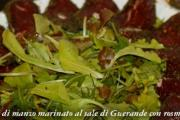 Filetto di manzo marinato al sale con erbe aromatiche